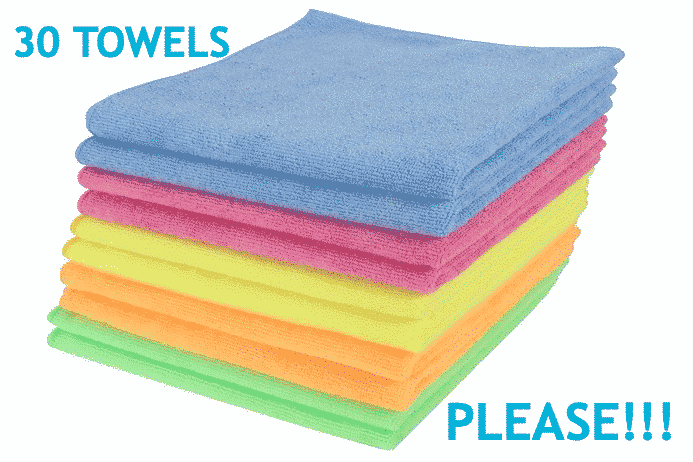 Learn how the minimum number of towels for home cleaning and office cleaning is 30